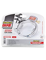 Bottari Câble de sécurité pour vélo Cadenas à clé très résistant Blanc