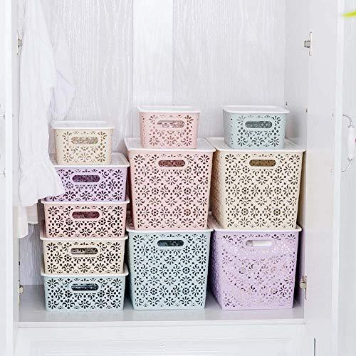 2 Stück Stapelbare Box Kommode Kunststoffkorb Schubladenschrank Organizer Kleiderschrank Aufbewahrungsboxen, S/Blau -