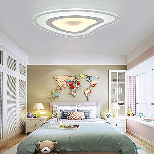 HviLit 53W Moderne LED-Deckenleuchte Creative Darts Fancy Shaped Ultra Slim zeitgenössische Deckenleuchte Pendelleuchte weißes Acryl Kinderzimmer umweltfreundliche Leuchte for Schlafzimmer Küche -