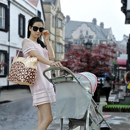 Großer Mummy Tasche Baby Windel Windel Wickeltasche Mama Handtasche Umhängetasche Schultertasche alpinweiß