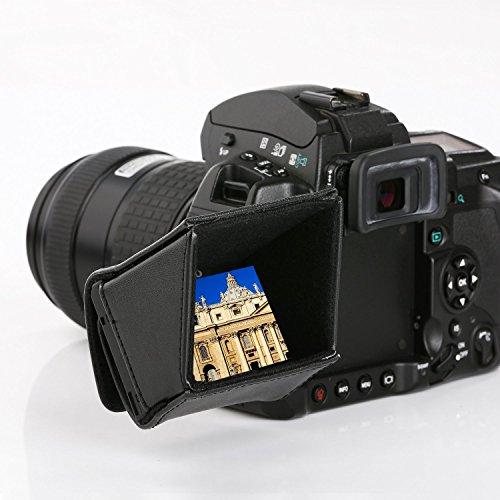 Movo LH30 Deluxe LCD Abzug Schatten für Flip-Out-DSLR-Kamera und Camcorder-LCDs (für 3
