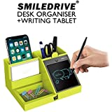 "SMILEDRIVE® Multifunction Pen Mobile Holder Desk Stand Organizer with 4.2"" Removable Electronic Writing Tablet & Pen"