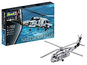 Revell-SH-60 Helicoptero SH/60 Escala 1/100-Revell RE04955, 14,8 cm de Largo (04955)