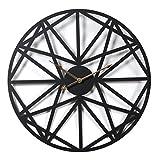 YVSoo Reloj de Pared Vintage 60cm Creativo Reloj Numérico Grande Retro Silencioso Reloj de Pared para Cocina, Salon, Cuarto Decoración, Color Negro