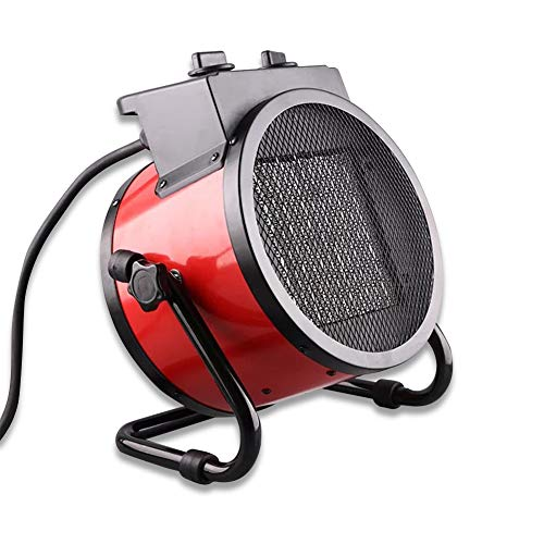 IDABAY Calefactor Eléctrico Cerámico 2000W /3000WPTC,Calentador de Espacio Viento Velocidad 120m3 / h Oscilación Automática 3 Modos Viento Cálido/Natural para Hogar y Oficina (3000W)