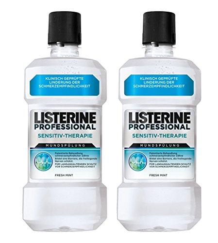 LISTERINE PROFESSIONAL SENSITIV-THERAPIE Mundspülung - Mundspülung für langanhaltenden Schutz vor Schmerzempfindlichkeit - 2er Pack (2 x 500ml) (Spray Listerine)