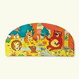 Dida - Kleiderbügel aus einer Holzwand für Kinder mit den Tieren des Waldes.