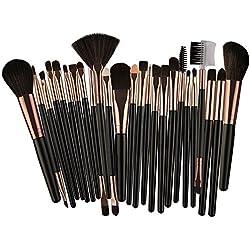 25 pcs/Set Maquillage Brush Set Makeup Brushes kit Outils Maquillage Professionnel Maquillage pinceaux Yeux Pinceau pour Les lèvres (Noir)