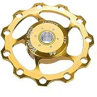 Rueda de guia de bicicleta - week eight polea de cambio trasero de rueda de guia de 11 dientes de bicicleta de montana de aluminio para jinete para SHIMANO SRAM oro