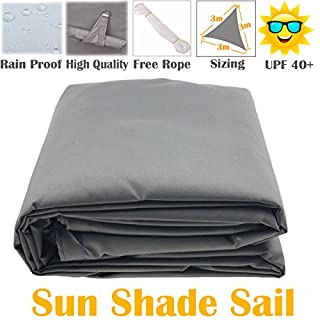 AutoFu Sonnenschutz-Segel, UV Schutz für Garten und Terrasse, Sonnenschutz, Vorzelt, Sonnendach 98% UV-Block-Vordach, Dreieck, 3x 3x 3m