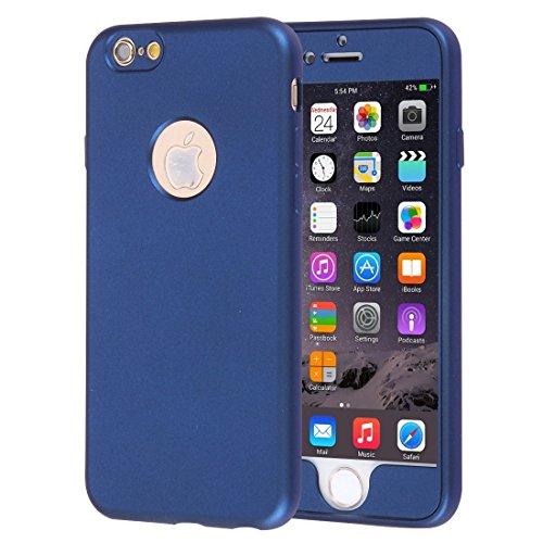 Mobiltelefonhülle - Für iPhone 6 & 6s 360 Grad Vollschutz Soft TPU Rückseitige Abdeckung + PC Front Combination Case ( Farbe : Dunkelblau ) Dunkelblau
