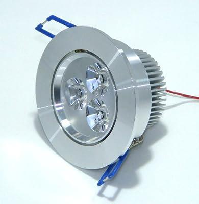 LED Einbaustrahler 230V, LED Einbauleuchte, 3x1 Watt, ES-5006-WW, dimmbar, WARMWEISS, 3000K, 290 Lumen!!! von World of LED bei Lampenhans.de