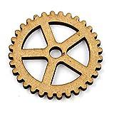 x 10 Stück 50mm (5cm) MDF Steampunk Zahnräder / Getriebe Holzern Deko Karte machen Handwerk Lasercut (cog4)