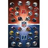 "Póster de–NFL–Cascos 16Nueva Wall Art 22""X34rp14691"