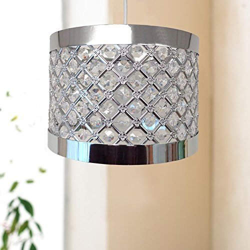 New Brighten and Beautify MODA Design Easy Fit Cylindrical Ceiling Light Fitting 24cm -Silver by Country Club