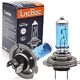 LncBoc 2 x H7 Bombilla Lámparas Halógenas Faro Delantero del Coche Lámparas Luces de Coche 12V 55W
