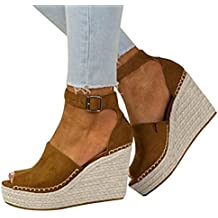 Logobeing Sandalias y Chancletas Zapatos de Plataforma Plana Polaca de Costura Polaca Peep Toe Sandalias de