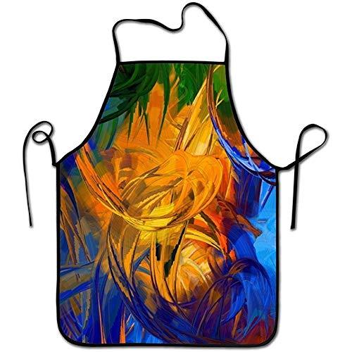 lears Justierbare Küchenchef-Schutzblech-Bunte abstrakte Malereien Handelsmänner u. Frauen-Schellfisch-Schutzblech für das Kochen, Backen, in Handarbeit Machen, im Garten Arbeiten, - Mann Im Kuh Kostüm