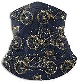 NR Paint Splashes - Sciarpa invernale scaldacollo in morbido pile tandem vintage oro per bicicletta