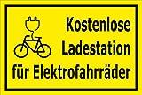 Melis Folienwerkstatt Schild - E-Bike Lade-Station - 30x20cm | 3mm Aluverbund - S00050-078-C -20 Varianten