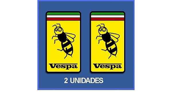 Ecoshirt 96-1L1M-6CNK Autocollants Stickers Vespa Italy R/éf Dp224 Aufkleber Autocollants Stickers Moto Decals 10 cm