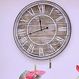 80cm Grande Madera Vintage Reloj Pared Shabby Chic