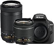 Nikon D3400-24.2 MP SLR Camera Black AF-P 18-55mm f/3.5-5.6 G VR Lens, Black + Nikon AF-P DX NIKKOR 70-300mm f