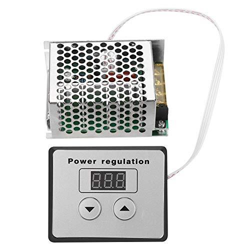 4000W SCR Digital Spannungsregler, Asixx Thermostat Drehzahlregler Dimmer Elektronische Spannungsregler mit Großem und Dickem Kühlkörper,Wechselstrom 220 V