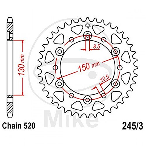 Preisvergleich Produktbild JT Hinteres Kettenrad 45 Zahn Pitch 520,  innere Durchmesser 130 Bolt Abstand 150