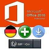 Microsoft Office Professional 2016 ISO USB 64 bit - Original Lizenzschlüssel mit bootfähigem USB Stick