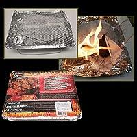 SHEHUIREN Bandejas De Papel De Aluminio Desechables para Barbacoa Grasa Sartenes para Hornear Asar Cocinar 30X24x5.5Cm