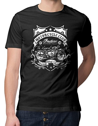 RoughTex Herren T-Shirt Indian Motorcycle Club Schwarz XL (Motorcycle T-shirt Indian)
