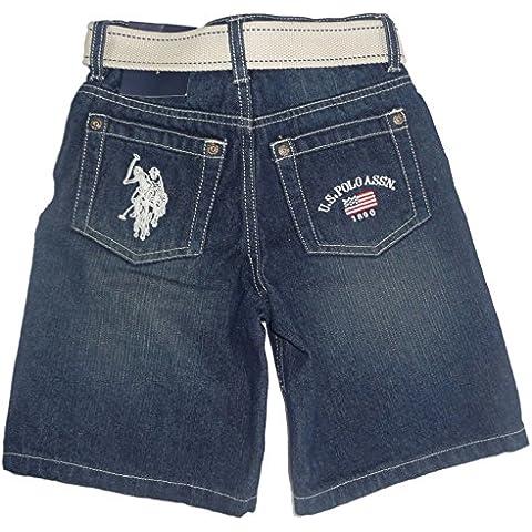 US Polo Assn bambini Jeans Denim pantaloni con cintura blu