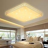 VGO 60W LED Kristall Deckenleuchte Starlight Effekt Mordern Schlafzimmer Deckenbeleuchtung Warmweiß Panel Lampe 2700K-3000K