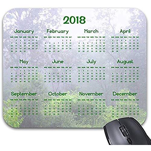 Computer Matte,Mousepad Nebeliger Teich-Natur-Kalender-Druck 2018 Mousepad Computerzubehör