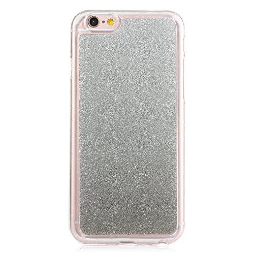 MOONCASE iPhone 6S Plus Hülle, Gel TPU Handyhülle Silikon Stoßdämpfende Tasche Case Schutzhülle für Apple iPhone 6 / 6S Plus (5.5 Zoll) Gradient Schwarz