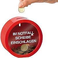 infactory Schwarzgeld-Spardose: Feuerwehrrote Spardose für finanzielle Notfälle (Spardosen für die Urlaubskasse) preisvergleich bei kinderzimmerdekopreise.eu