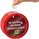 infactory Schwarzgeld-Spardose: Feuerwehrrote Spardose für finanzielle Notfälle (Spardosen für die Urlaubskasse)