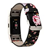 Watch Strap,Pattern Leather Strap Replacement Watch Band For For Fitbit Charge 2,Motivator and Activity Tracker Sport Accessory Wristband Watch Smart Watch Jimmkey (length:5.3
