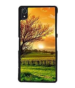 PrintVisa Designer Back Case Cover for Sony Xperia Z1 :: Sony Xperia Z1 L39h :: Sony Xperia Z1 C6902/L39h :: Sony Xperia Z1 C6903 :: Sony Xperia Z1 C6906 :: Sony Xperia Z1 C6943 (Gods Gift Is Nature Scenic Design)