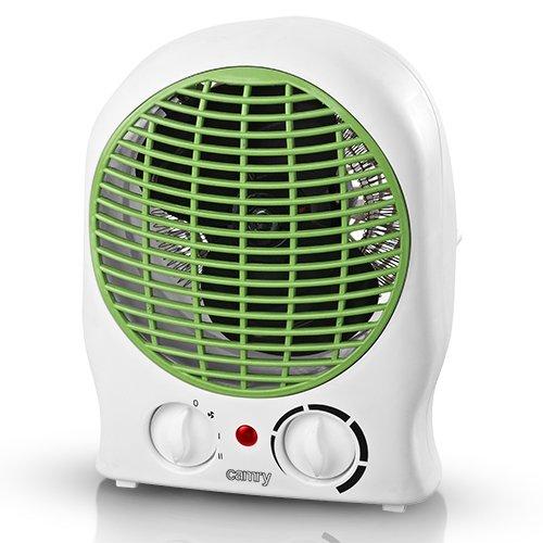 Camry CR7706G Interior Verde, Color blanco 2000W Calentador eléctrico de ventilador - Calefactor (Calentador eléctrico de ventilador, Interior, Verde, Color blanco, 2000 W, 1000 W, 900 g)