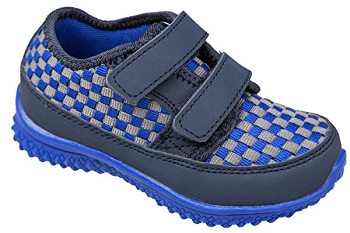 GIBRA® Kinder Sportschuhe, mit Klettverschluss, blau, Gr. 25-36 Blau