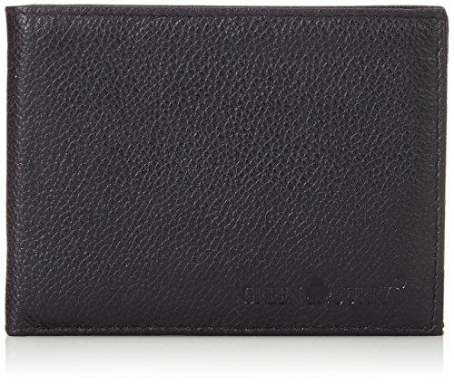 Greenburry Herren Geldbörse Querformat Leder GB-002-20 12 cm mit Klappfach