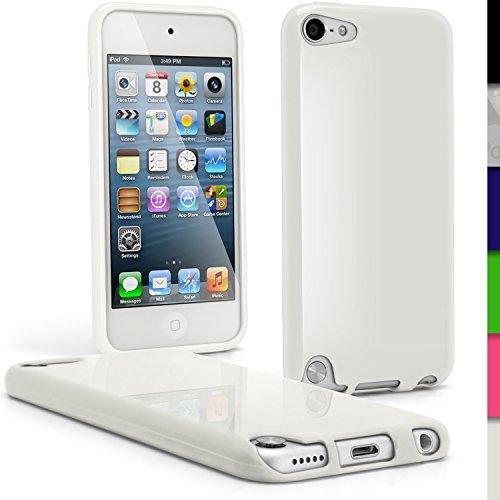 igadgitz Bianco Custodia TPU Gel Case Cover Rigida Protezione per Apple iPod Touch 5th Generazion 5G 32GB 64GB + Protettore Schermo