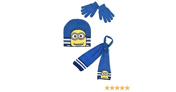 Mnions bonnet gants écharpe Taille 52-54