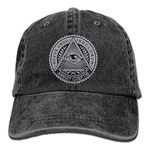 Hoswee Unisex Kappe/Baseballkappe, Illuminati Adult Cowboy Hat Baseball Cap...