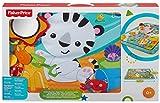 Fisher-Price – Große Spiel- und Krabbeldecke mit Tiermotiven und Babyspielzeug, 1 x 1.50 m, blau - 6