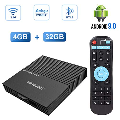 ESHOWEE Android 9.0 Tv Box F2 Amlogic S905X2 Quad Core 4GB RAM 32GB ROM 2.4G WiFi BT 4.2 Smart Tv Box - Tv Neueste