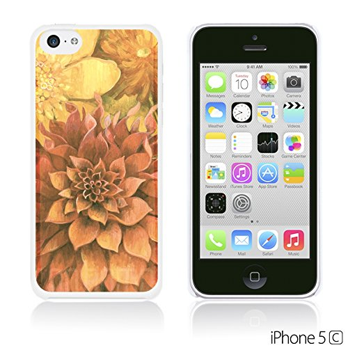 OBiDi - Flower Pattern Hardback Case / Housse pour Apple iPhone 5C - Colorful Flowers With Birds Red Dahlia