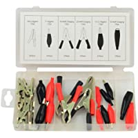 Rolson Tools 61284 - Set di 24 morsetti e pinze elettriche assortiti